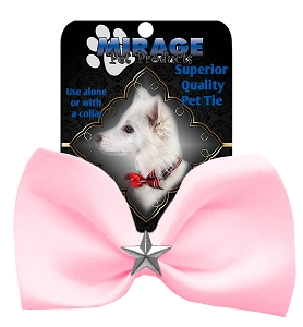 Silver Star Widget Pet Bowtie Light Pink